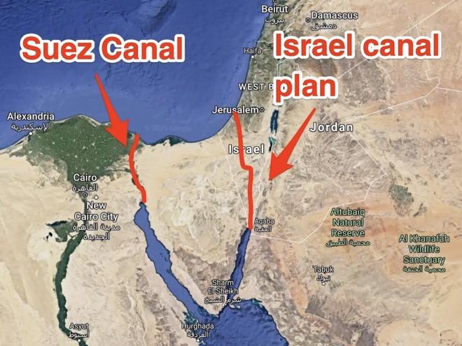 Kế hoạch dùng 520 quả bomhạt nhân của Mỹ, tạo kênh đào thay thế Suez ở Israel - 1