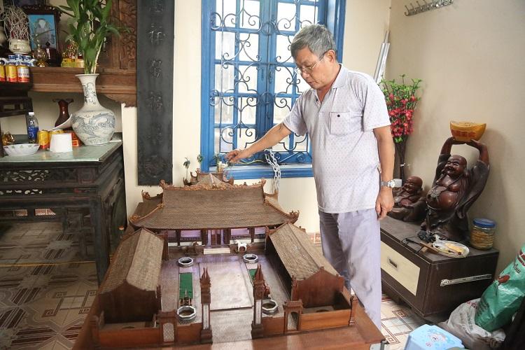 Độc nhất VN: Mô hình đình làng thu nhỏ bằng gỗ gụ được làm liên tục 5 năm - 1