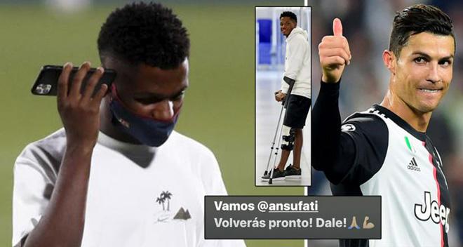 Tin bóng đá mới nhất tối 3/4: Ronaldo động viên sao trẻ Barcelona - 1