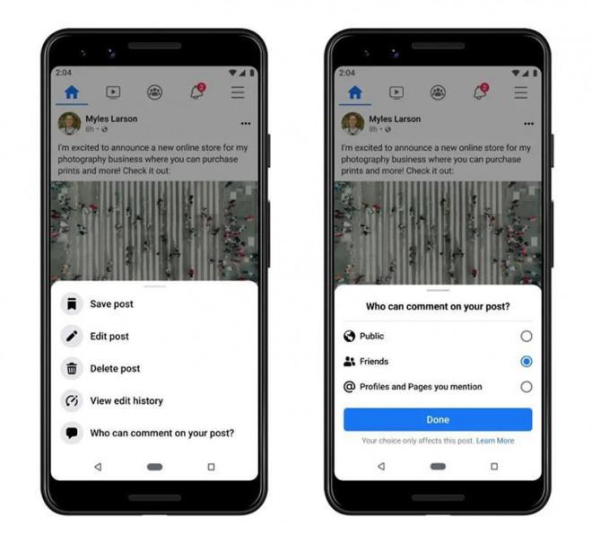 Facebook ra mắt tính năng mới, cho phép người dùng chặn các bình luận tiêu cực ở bài đăng - 1
