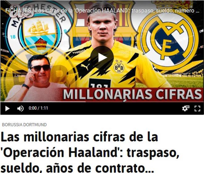 Báo Tây Ban Nha tiết lộ yêu sách của Haaland,