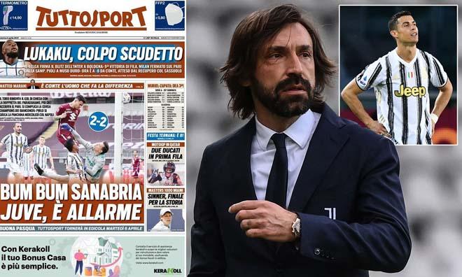 """Juventus có thể """"trảm"""" HLV Pirlo vào thứ Tư 7/4, xem Ronaldo có """"phản thầy"""" - 1"""