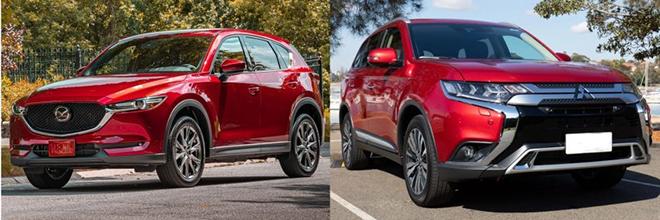 So sánh Mazda CX5 2.5AT AWD và Outlander AWD, tầm giá 1 tỷ đồng chọn xe nào? - 1