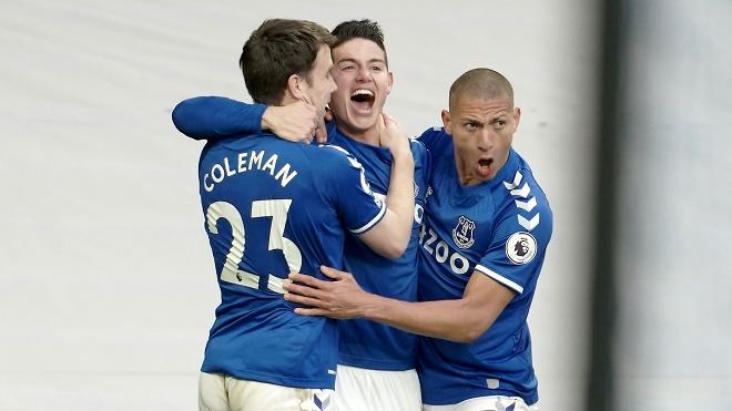"""Video Everton - Crystal Palace: James Rodriguez """"nổ súng"""", trái đắng phút 86 - 1"""