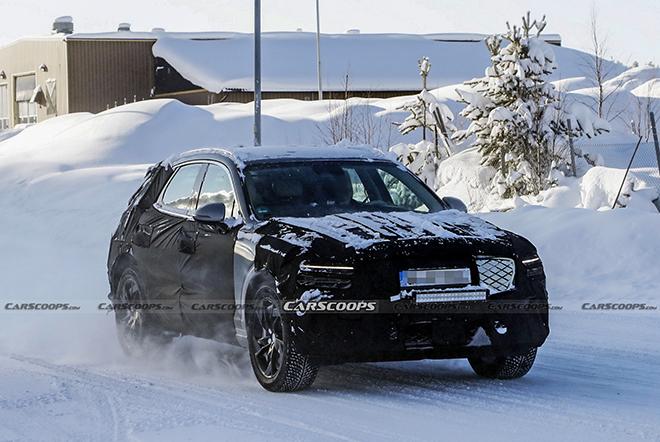Xe điện Genesis eGV70 bị bắt gặp chạy thử trên đường tuyết tại châu Âu - 1