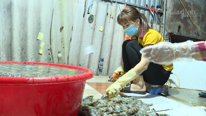 Hà Nội: Lại phát hiện tiểu thương bơm tạp chất vào tôm để tăng trọng lượng - 1