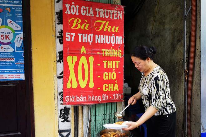 Hà Nội: Xôi bà Thu có gì hấp dẫn mà bán 300 bát thu về 17 triệu mỗi ngày - 1