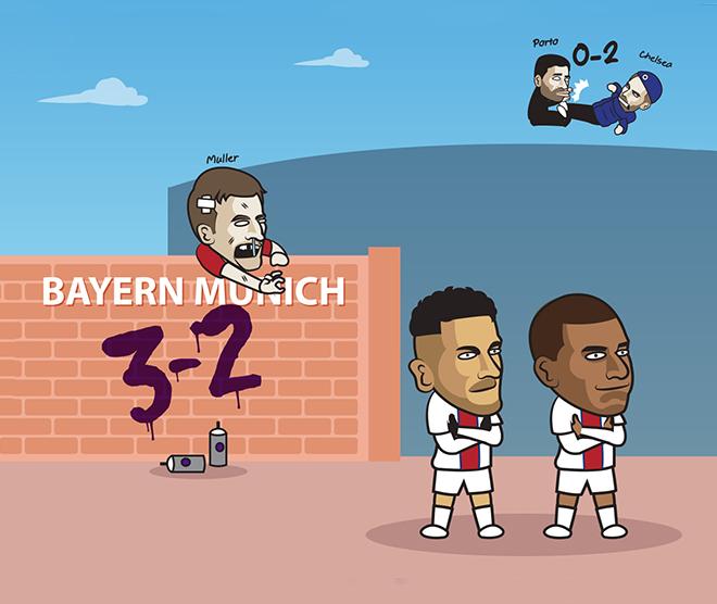 """Ảnh chế: Bayern Munich bị """"bắn hạ"""" trên sân nhà, fan PSG """"mở tiệc"""" - 1"""