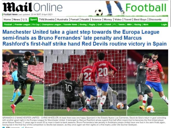 """MU đặt một chân vào bán kết Europa League, báo Anh vẫn lo """"dớp"""" toàn thua - 1"""