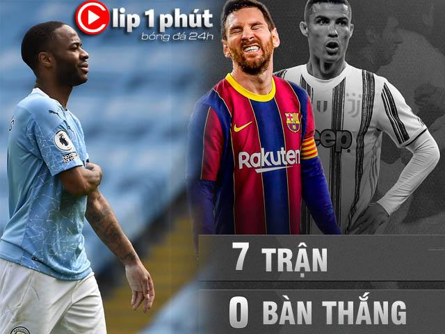 Man City thua thảm lo vỡ mộng ăn 4, Messi tịt ngòi thời siêu kinh điển vắng Ronaldo (Clip 1 phút Bóng đá 24H)