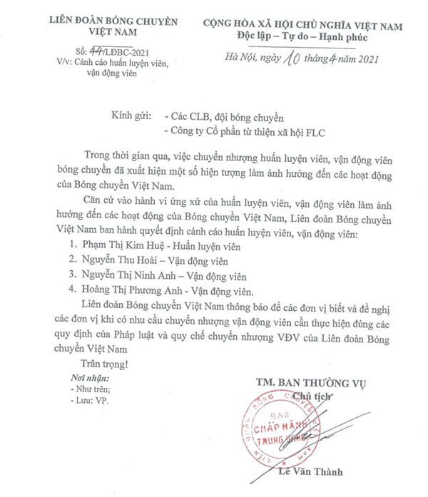 HLV bóng chuyền Phạm Kim Huệ nói gì khi bị án phạt cảnh cáo? - 1