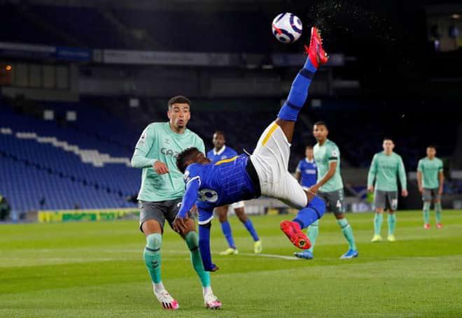 Video Brighton - Everton: Tấn công dữ dội, James Rodriguez lạc lõng - 1