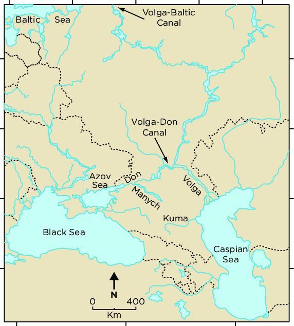 Hạm đội Caspi Nga vượt 100 km kênh đào, ùn ùn kéo đến Biển Đen - 1