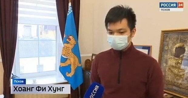 Chàng trai Việt lên truyền hình Nga, được gửi thư cảm ơn vì cứu hai bé trai ngã sông băng - 1