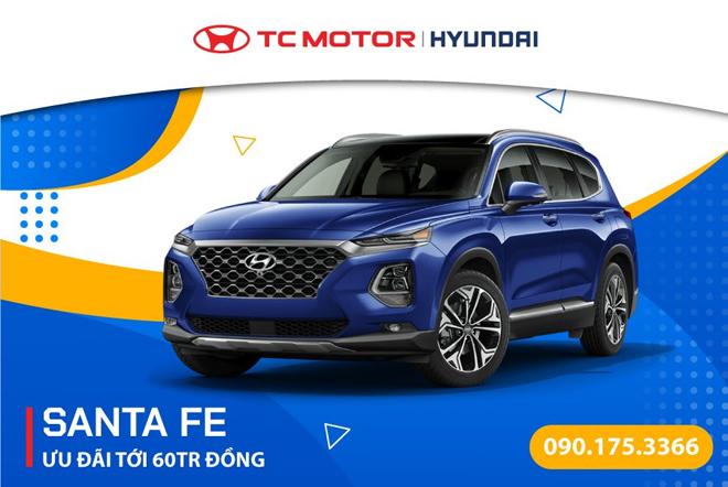 Hyundai Santafe ưu đãi khủng lên tới 60 triệu đồng - 1