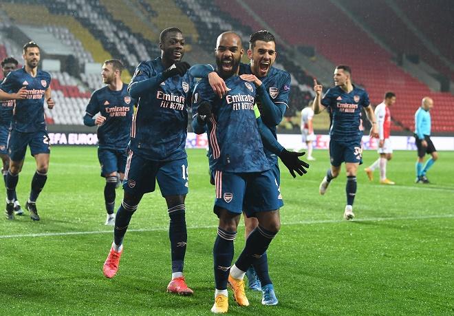 Kết quả bóng đá Europa League, Slavia Praha - Arsenal: 3 bàn 6 phút, cú đúp ngôi sao - 1