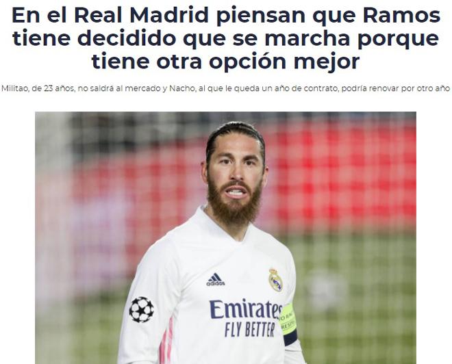 Ramos chốt tương lai, báo Tây Ban Nha loan tin đã chia tay đồng đội tại Real - 1