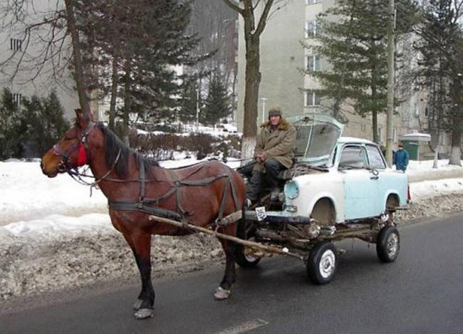 """Cái này phải gọi là """"ô tô ngựa""""."""