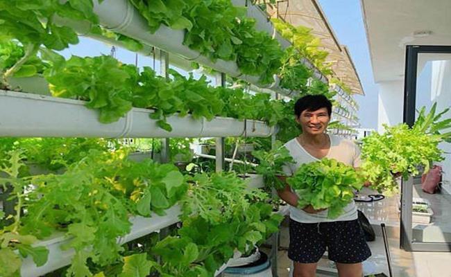 Vốn có gốc nông dân, Lý Hải luôn mong muốn các con ngoài giờ học còn biết thêm kỹ năng sống. Anh là người tự tay hướng dẫn các con cách làm vườn, nhận biết các loại cây trái...