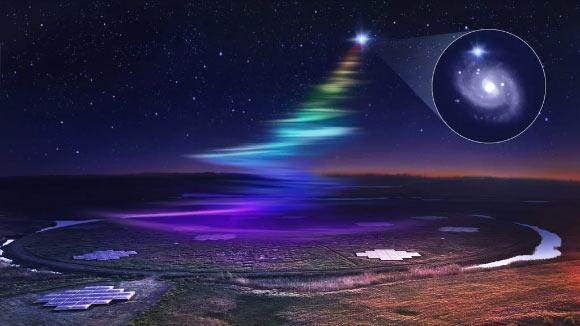 """Thiên hà khác phát tín hiệu """"cầu vồng"""" xuống Trái Đất 18 lần - 1"""