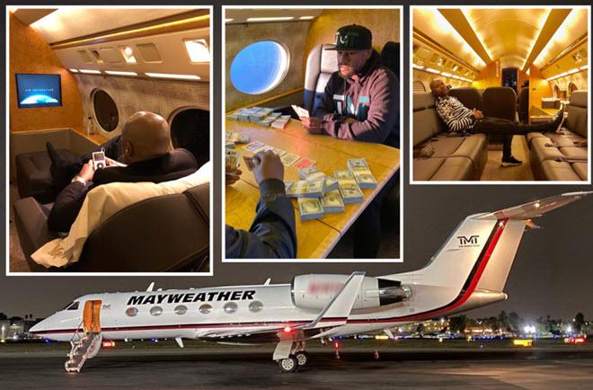 """Mayweather đính hôn """"vũ nữ thoát y"""", được người đẹp chăm sóc trên máy bay - 1"""