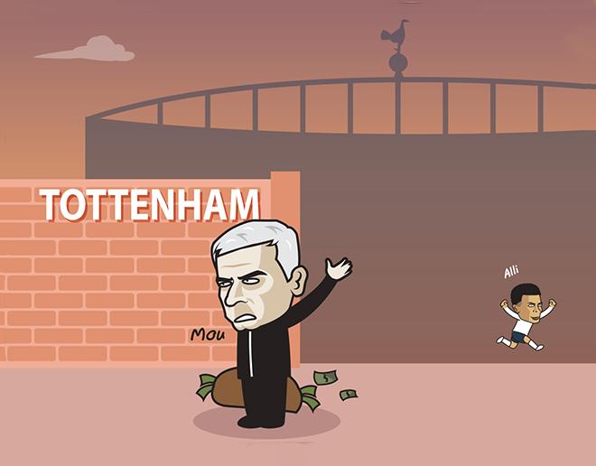 """Ảnh chế: Mourinho """"cay đắng"""" rời Tottenham trong sự hả hê của học trò - 1"""