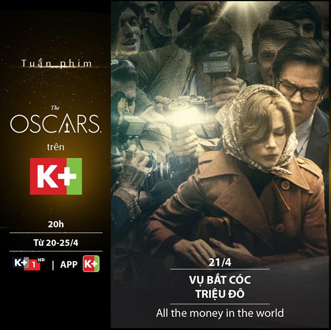 """Chùm phim đoạt giải Oscar chính thức """"cập bến"""" trên sóng K+ - 1"""