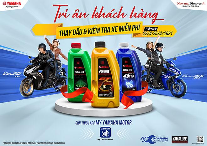 Yamaha hỗ trợ khách hàng sau mùa dịch Covid - Thay dầu miễn phí trên toàn quốc - 1