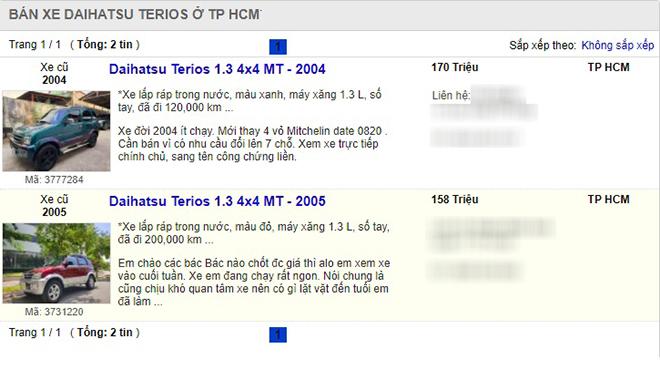 Xe cũ Daihatsu Terios giá bán dưới 200 triệu đồng, giải pháp tối ưu trong mùa mưa - 4
