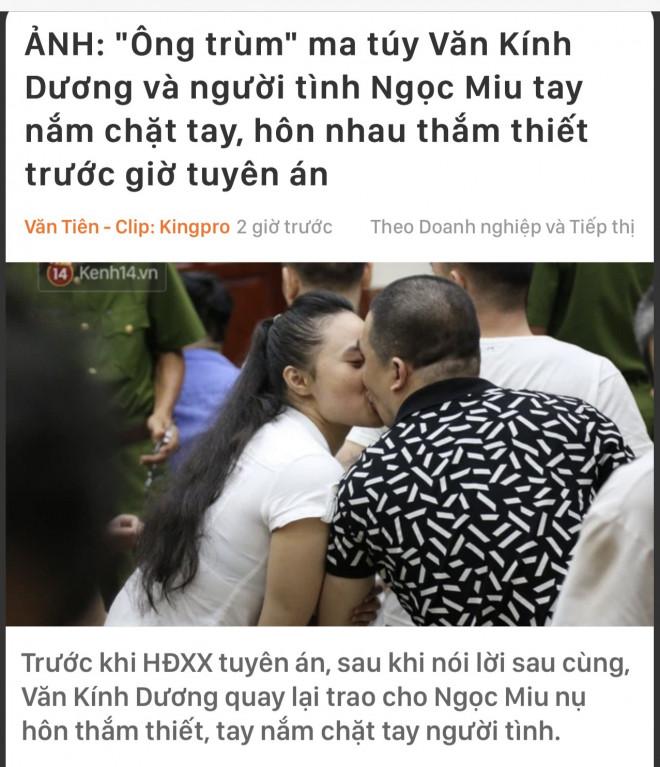 Tranh luận về hình ảnh hotgirl Ngọc Miu hôn người tình tại toà - 1