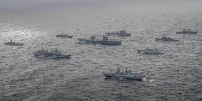 Nhóm tàu sân bay tấn công đa quốc gia do tàu Anh dẫn đầu sẽ vào biển Đông - 1