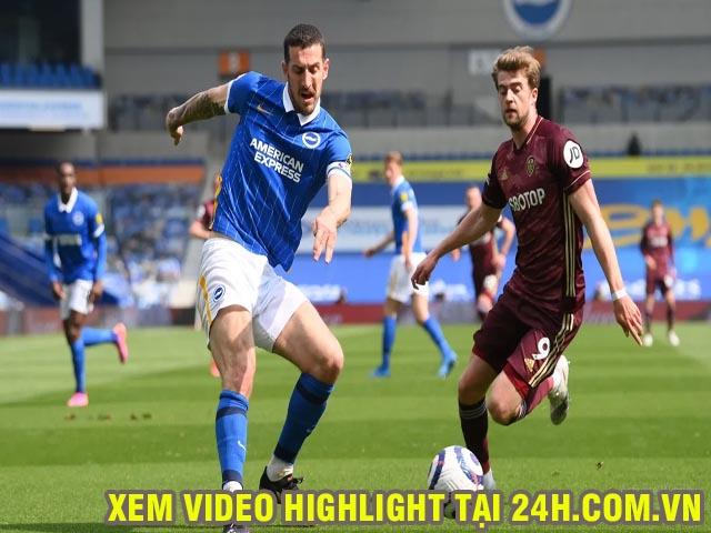 Video Brighton - Leeds United: Phủ đầu choáng váng, Welbeck ghi siêu phẩm