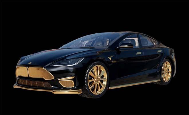 """Tesla Model S """"dát vàng 24K"""" đắt ngang ngửa siêu xe - 1"""