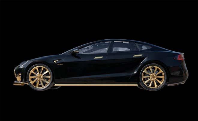 """Tesla Model S """"dát vàng 24K"""" đắt ngang ngửa siêu xe - 4"""
