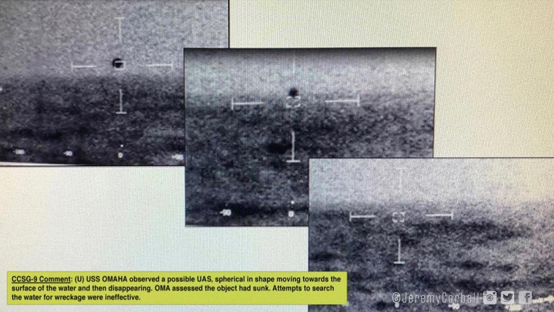 """UFO lượn quanh tàu chiến Mỹ đến từ """"căn cứ ngầm dưới biển""""? - 1"""