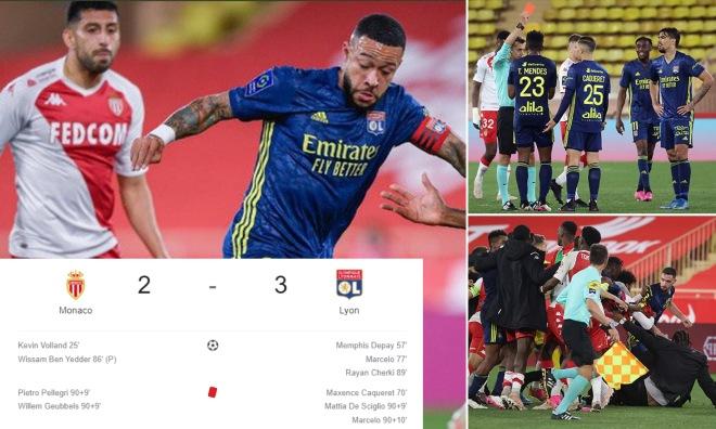"""""""Trận cầu điên"""" chấn động châu Âu: 5 bàn thắng, 5 thẻ đỏ xuất hiện - 1"""