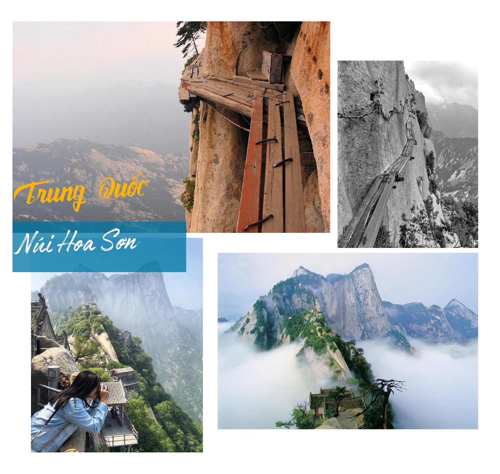 Những bậc thang lên núi chênh vênh và nguy hiểm nhất thế giới - 7