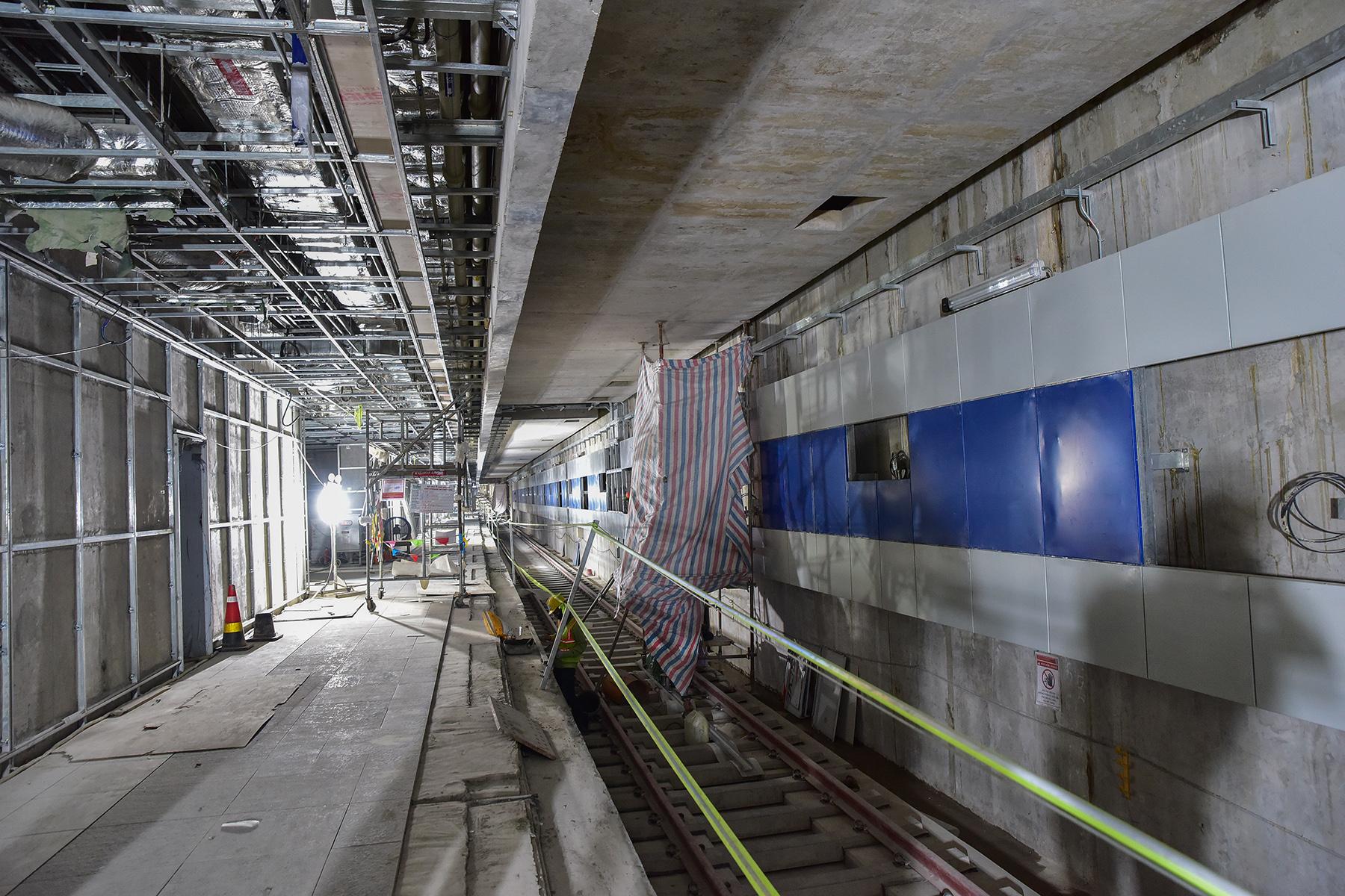 Hình ảnh ga Ba Son nằm sâu dưới lòng đất của tuyến metro số 1 - 14
