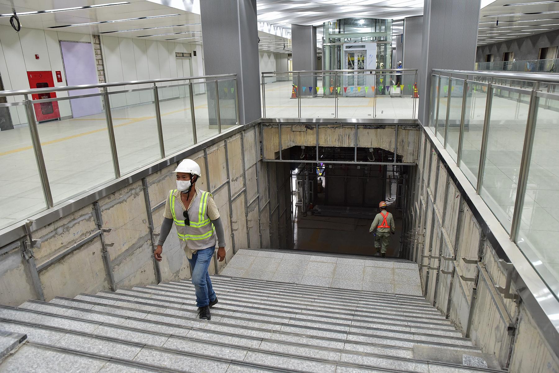 Hình ảnh ga Ba Son nằm sâu dưới lòng đất của tuyến metro số 1 - 7