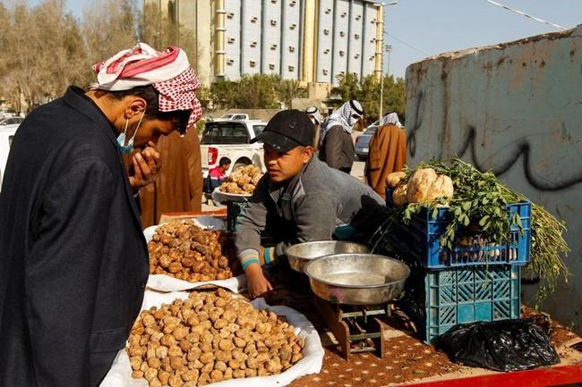 Sau khi nấm được tìm thấy, người bán sẽ phân loại chúng rồi đem ra chợ bán ở Samawa.