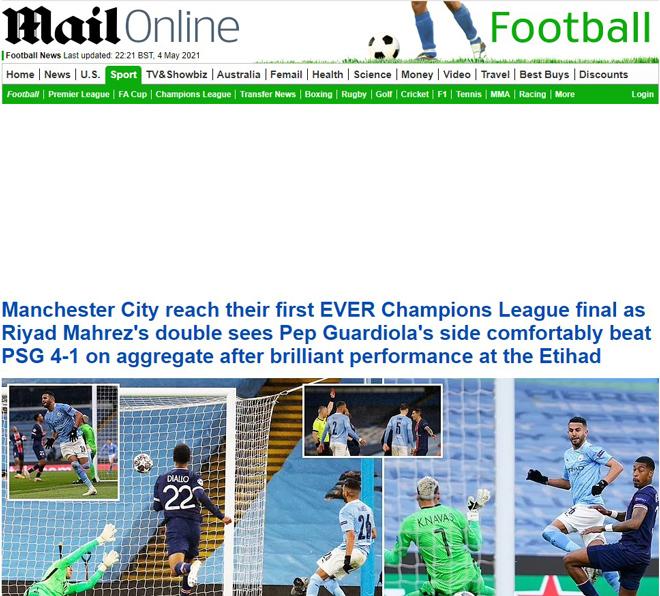 Man City lọt vào chung kết Cúp C1: Báo chí Anh tự hào, bái phục Pep Guardiola - 1