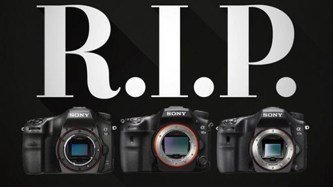 Sony chính thức ngừng sản xuất máy ảnh DSLR - 1