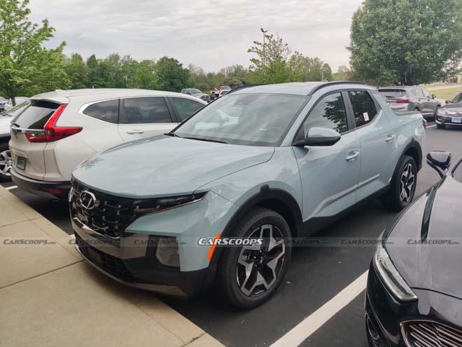 """Bán tải Hyundai Santa Cruz """"bằng xương bằng thịt"""" đầu tiên xuất hiện - 1"""