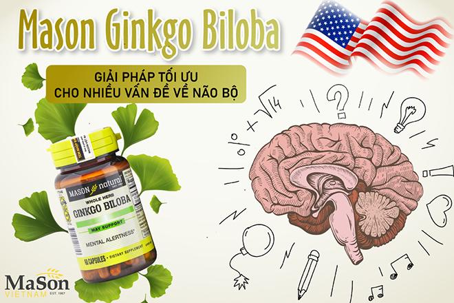 Mason Ginkgo Biloba - Giải pháp dành cho người thường xuyên đau đầu, chóng mặt, suy giảm trí nhớ - 1