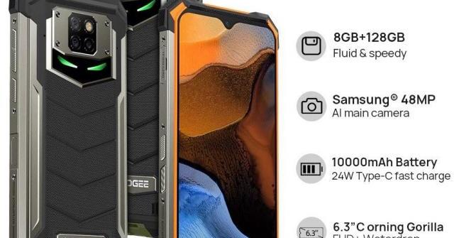Doogee S88 Plusra mắt:Pin 10.000 mAh, RAM 8G, ROM 128G bền vô đối