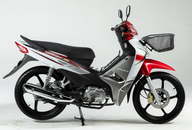 Zongshen Ryuka SAVE II S, một dòng xe số gia đình, đang được phân phối tại thị trường Thái Lan. Ảnh Ryuka SAVE II S bản màu Trắng Đỏ.