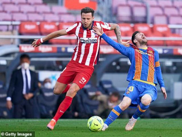 Trực tiếp bóng đá Barcelona - Atletico Madrid: Messi đá phạt nguy hiểm (Hết giờ)