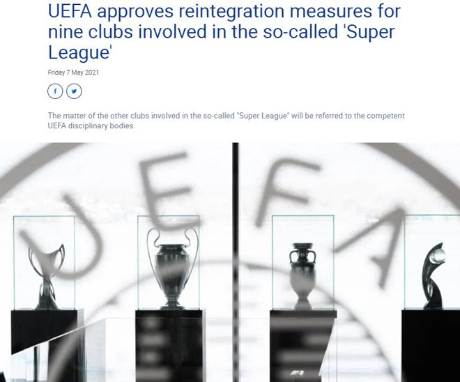 UEFA chính thức ra án phạt vụ Super League, Real - Barca - Juventus nín thở - 1