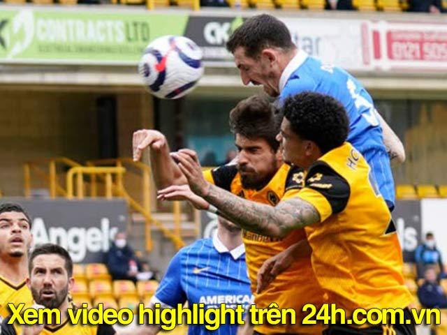 Trực tiếp bóng đá Wolverhampton - Brighton: Gibbs-White ghi bàn phút 90 (Hết giờ)