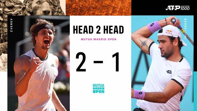 Nhận định chung kết Madrid Open: Zverev phong độ đỉnh cao, Berrettini mơ gây sốc - 1
